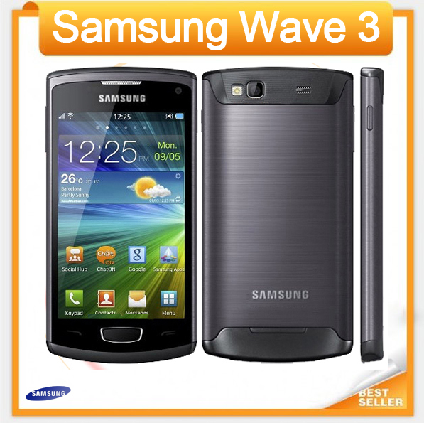 Good quality Original Samsung S8600 Wave 3 mobile phone 5MP Camera 3G wifi GPS 4.0'' touch refurbished phone Unlocked(China (Mainland))