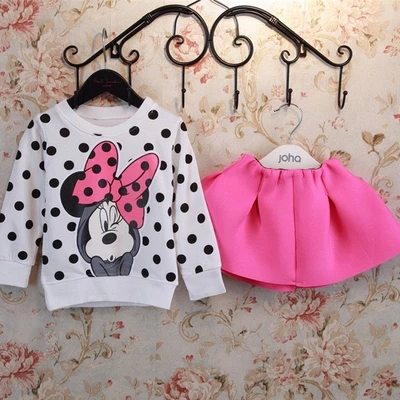 Free Shipping Baby Girls Clothes Children Suit For Toddler Girl casual Cotton Tshirts + Skirt Kids Clothes Sets new AQZ115(China (Mainland))
