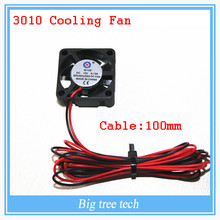 10pcs 3D printer GDT 3010s 3cm 30 x 30 x 10mm 30mm Small DC 12V Brushless Cooling Cooler Fan 100mm cable