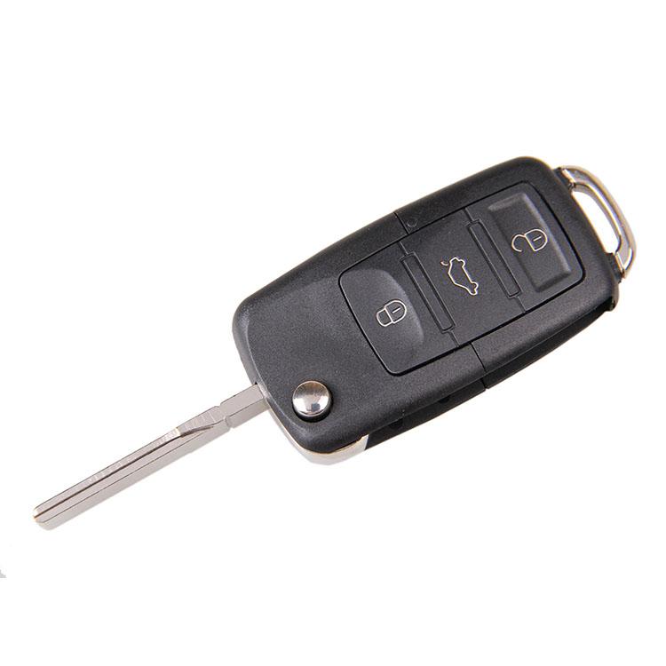 stock Keyless Folding Flip Remote Key Shell Case Fob 3 Buttons VW Volkswagen Jetta Beetle Passat - JACKY PENG's store