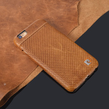 """Buy Stylish Brown Genuine Leather Hard Back Case Cover iPhone 6 6G 4.7"""" Phone cases Free for $15.99 in AliExpress store"""