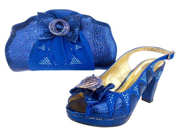 African Royal blue wedding/party Shoes Matching Bags Fashion Italian Woman Sets Wedding size38-42 - Guangzhou Top-One Import & Export Co., Ltd. store
