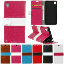 Mix Color Fashion Flip Wallet Leather Phone Cases Sony Xperia X XA Performance /Sony E5 Stand Card Holder SF02 - Shenzhen Best Accessories store