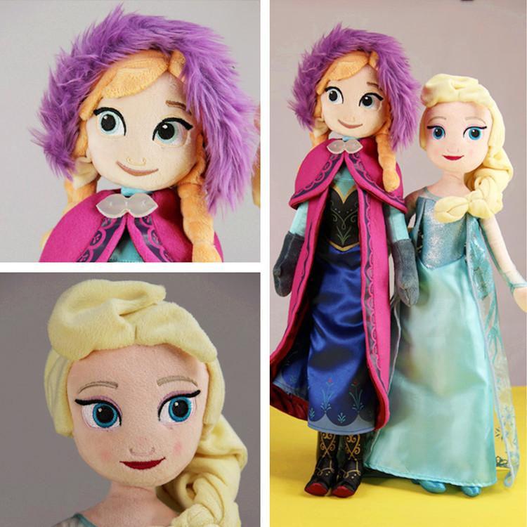 Clearance Sale Peluche Boneca Elsa Doll Princess Anna Doll Elsa Anna Plush Toys Brinquedos Olaf(China (Mainland))