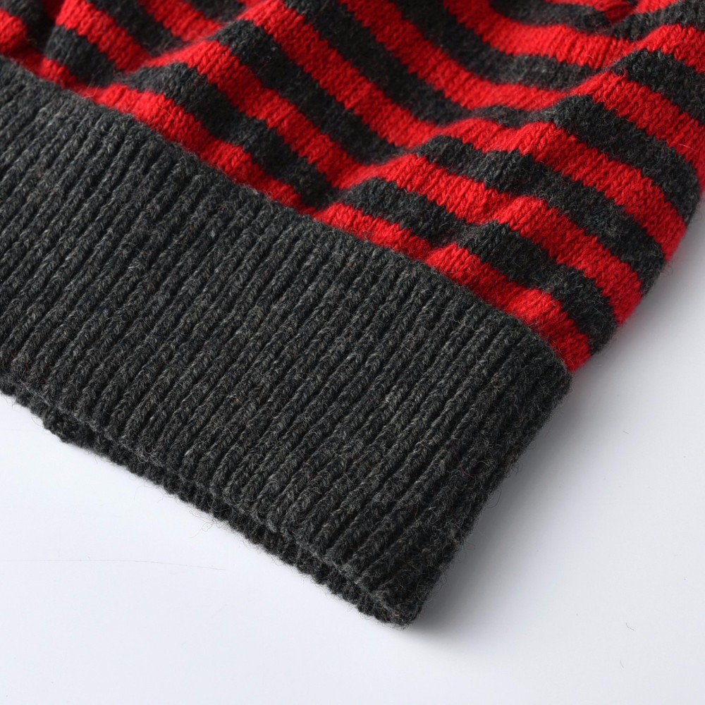 2017 KBB Spring   4 Colors   Classic Men Women Children Striped Yarn Knit Warm Winter Skullies Hat Beanie Female Cap