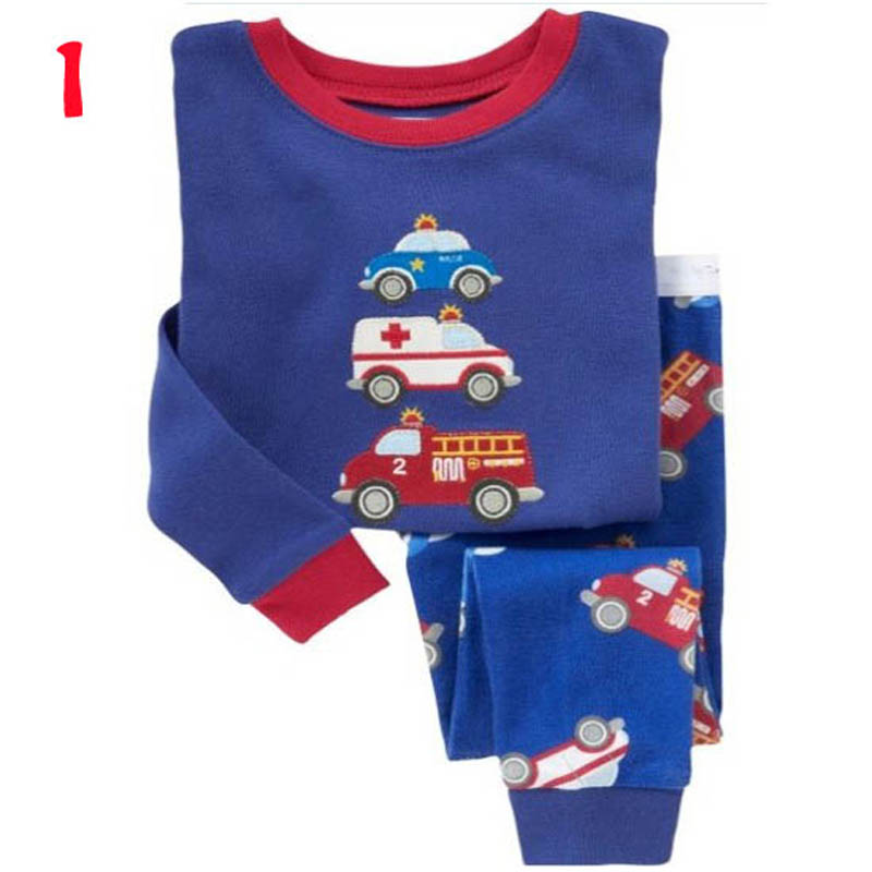 2016 New Spring Autumn Kids Girls Boys Animal Print Sleepwear Long Sleeve Cotton Nightdress Childrens Pyjamas Sets - Baby and Children Store store