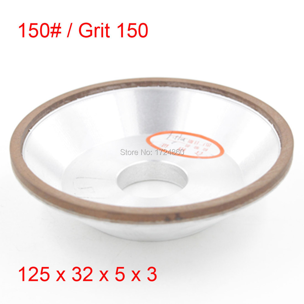 75% Concentration150 Grit Resin Bowl Diamond Grinding Wheels 125mm x 32mm x 5mm x3mm Cup Wheel Abrasive Tools<br><br>Aliexpress