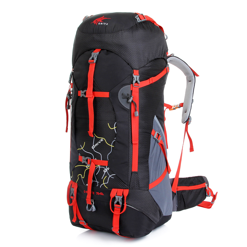 Outdoor spikeing super large capacity professional mountaineering bag hiking backpack male outdoor travel bag double-shoulder<br><br>Aliexpress