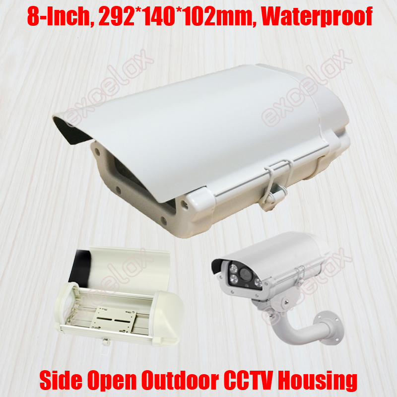 "8"" IP66 Waterproof CCTV Security Camera Housing 292x140x102mm Aluminum Alloy Outdoor Enclosure Casing for Box Zoom Bullet Camera"