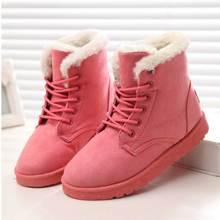 Frauen Stiefel Winter Warm Schnee Stiefel Frauen Faux Wildleder Ankle Stiefel Für Weibliche Winter Schuhe Botas Mujer Plüsch Schuhe Frau WSH3132(China)