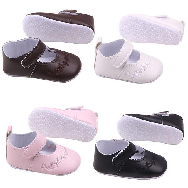 Новый малыш девочка искусственная кожа принцесса детская кровать в обуви новорожденные-18m ...