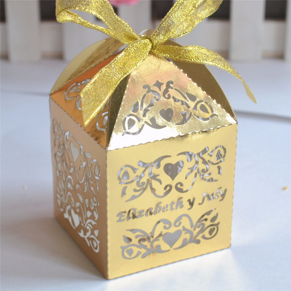 Buy Wedding Gift Box : ... wedding-gift-Personalized-wedding-gift-box-laser-cut-gold-paper-gift