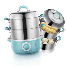 Bear Brand Stainless steel multifunctional electric food steamer, two tiers(China (Mainland))