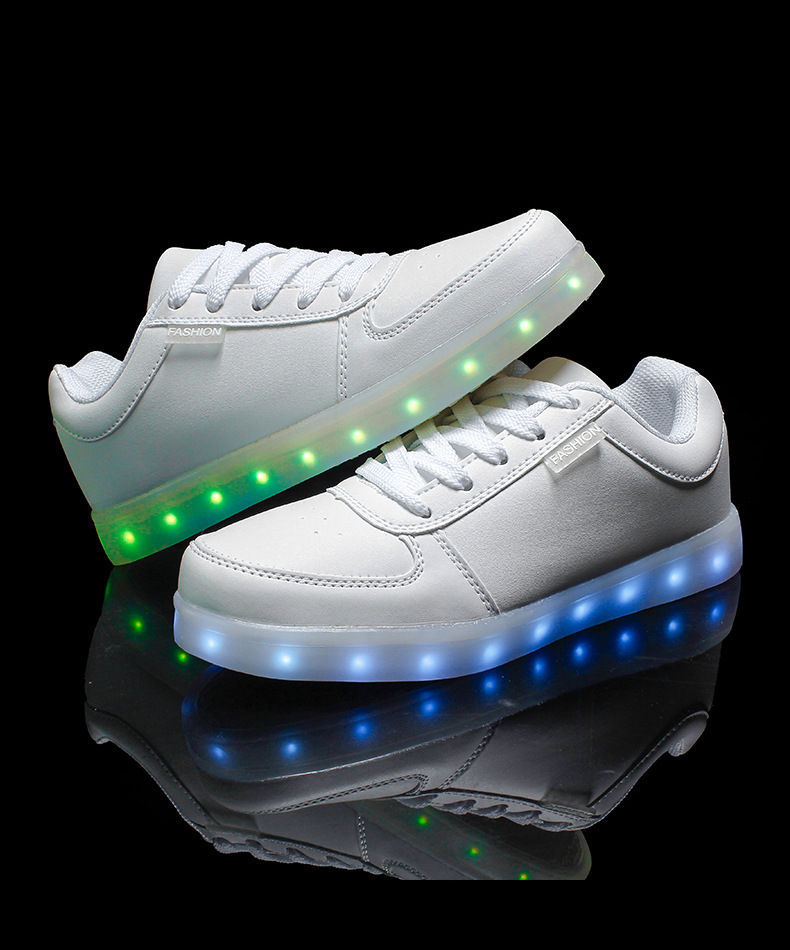 2015 women light up led luminous shoes color glowing casual fashion with new simulation sole charge for men adults neon basket