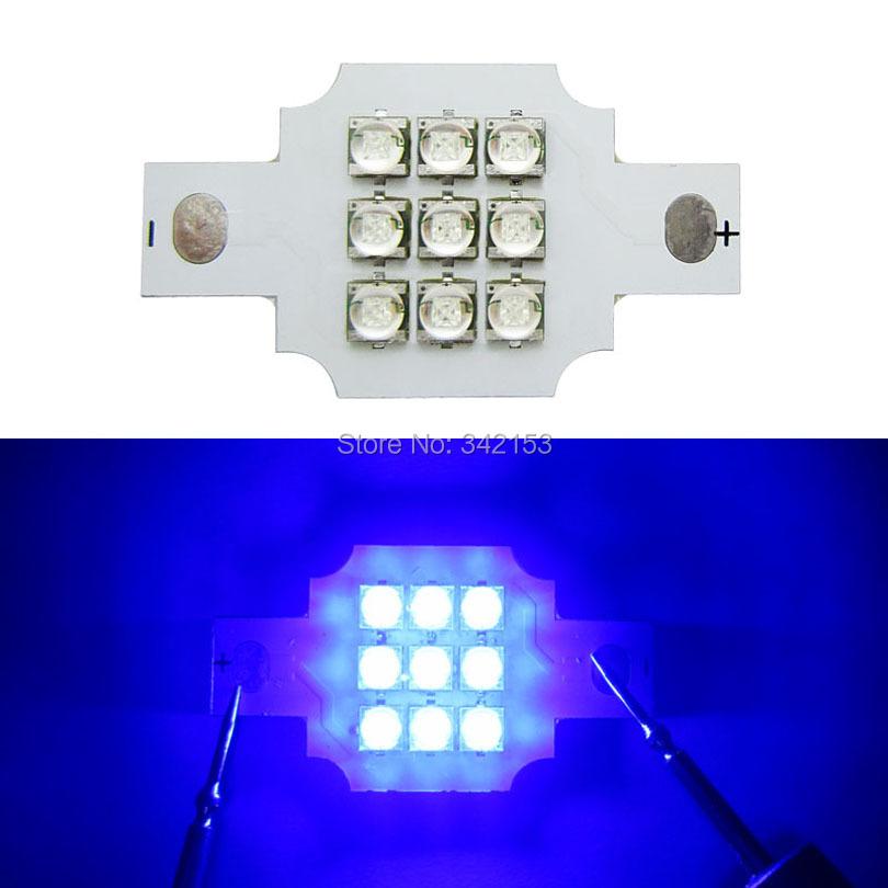 DIY Led Lamp Light 10-20W 9-11V Cree XT-E XTE 9Leds Led Emitter Lamp Light Warm White 3000-3200K White 6000K Royal Blue 450NM(China (Mainland))