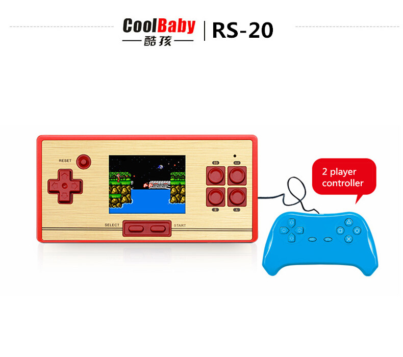 New HOT sell RS20 Support 2 player+1controller handled game console built in 600 different 8 bit games classic game style(China (Mainland))