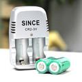 CR2 Charger 2pcs lot 3 0V 800mAH rechargeable Li ion battery 3V set for rangefinder mini