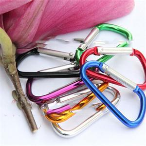 5pcs Outdoor Sports Multi Colors Aluminium Alloy Safety Buckle Keychain Climbing Button Carabiner Camping Hiking Hook