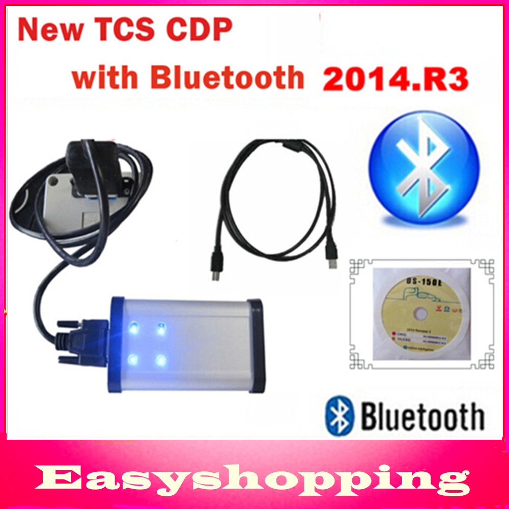 2014.R3 free activate+LED OBD CONNECTOR Gray TCS CDP PRO PLUS Bluetooth+(flight function) OBDII Cars Trucks 3in1