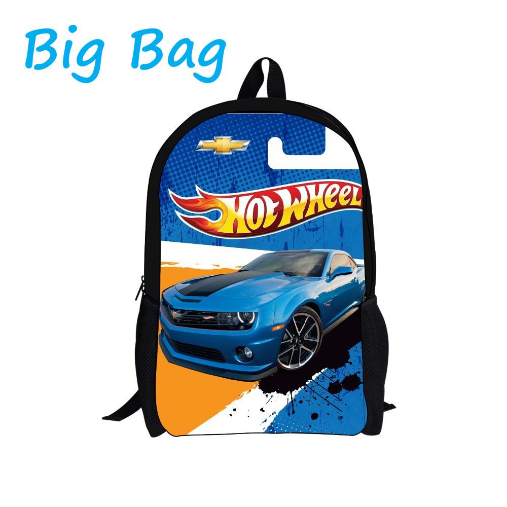 2016 New Design Kids Game Team Hot Wheels DRIFT Backpack Child Cartoon Cars Boys School Backpacks Bag Men't Backpack for Teenage(China (Mainland))