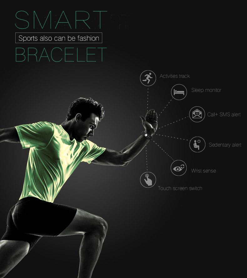 image for TK47 Fitness Tracker Smart Wristband Bluetooth 4.0 Sleep Monitor Sport