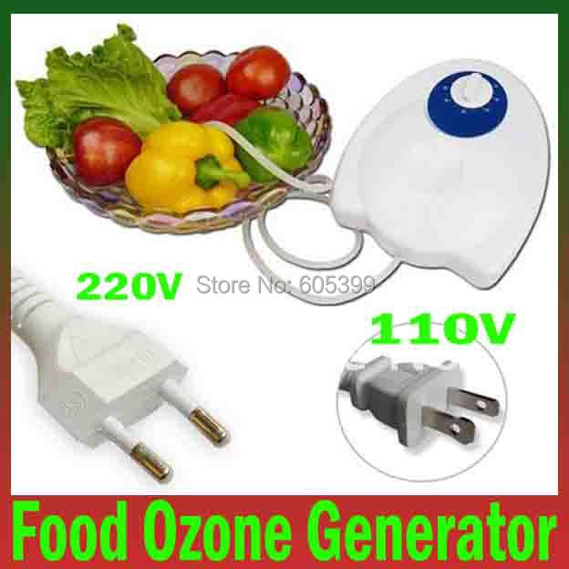 400mg/h 220V 400mg/h portable Timer Fruit Vegetables Food Ozone Generator Water Air Sterilizer Ozone Purifier Free Shipping(China (Mainland))