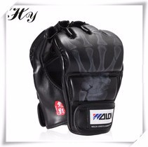 Sanda-Training-Gloves-Black-White-Boxing-Gloves-Half-Finger-Sandbags-Gloves-Mitaine-Boxe-Leather-guantes-de