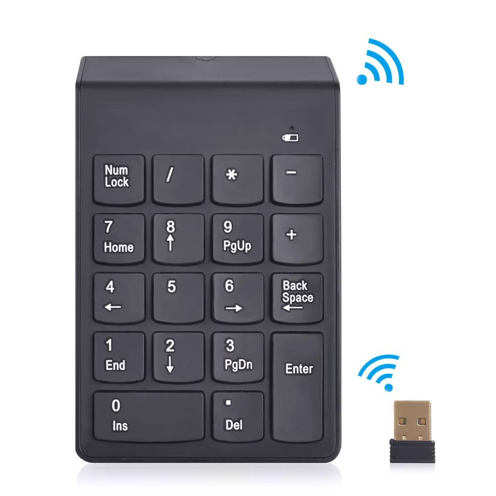 2.4G USB Numeric Keypad 18Keys Wireless Keyboard Mini Digital Keyboard High Quality Number Pad Ultra Slim For Compute PC Laptop(China (Mainland))