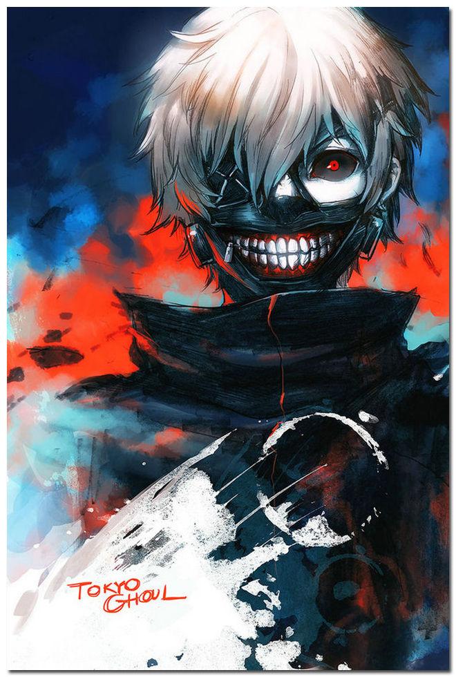 Tokyo Ghoul font b Japan b font font b Anime b font Art Silk Poster 24x36inch