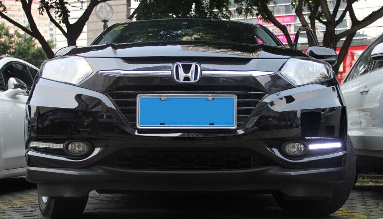A&T car styling For Honda HRV Vezel LED DRL For HRV Vezel led fog lamps daytime running light High brightness guide LED DRL
