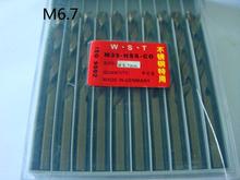 6.7 MM Cobalt broca derecho Shank fresa espiral bit 10 unids = 1 lote M35 materiales