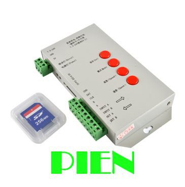 T-1000S SD card led pixel controller DMX 512 for ws2811 W2801 rgb dream color led strip DC7.5-24V by DHL 10pcs <br><br>Aliexpress