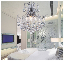 TOP Quality Mini Modern Crystal Chandelier Light Chrome Crystal Chandelier Light Lighting Guaranteed 100%+Free shipping!(China (Mainland))
