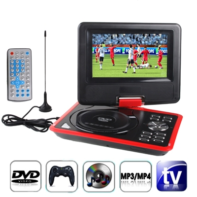 Фотография 7.5 inch TFT LCD Screen Digital Multimedia TV (PAL / NTSC / SECAM) Portable DVD with Card Reader & USB  Game  SD/ MS/ MMC Card