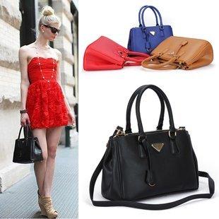 Celebrity Designer Inspired Faux Leather Satchel Tote Bag BW0078
