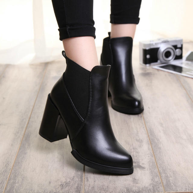 2015 womens Spring shoes Fashion Thick Heel Platform High-Heeled Shoes Women motorcycle Boots Ankle boots Pumps - Christine Store store