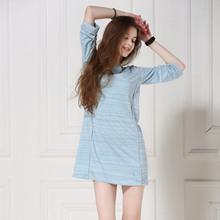 2016 Summer Style Sexy Female Lounge Sleepwear Comfortable Modal Women Sleepshirt Round-Neck Brief Nightdress Free Shipping