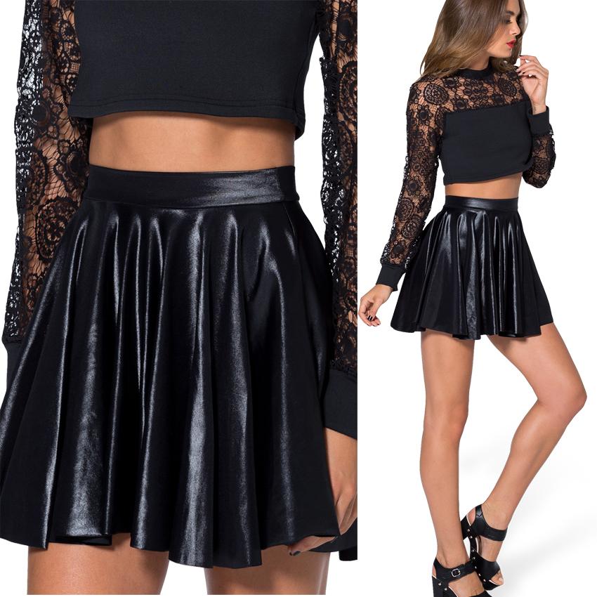 2015 new autumn winter summer skirt black look