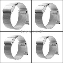 New Silver 18mm 20mm 22mm 24mm Stainless Steel Watch Mesh Bracelets Straps Replacement Band Free Shipping