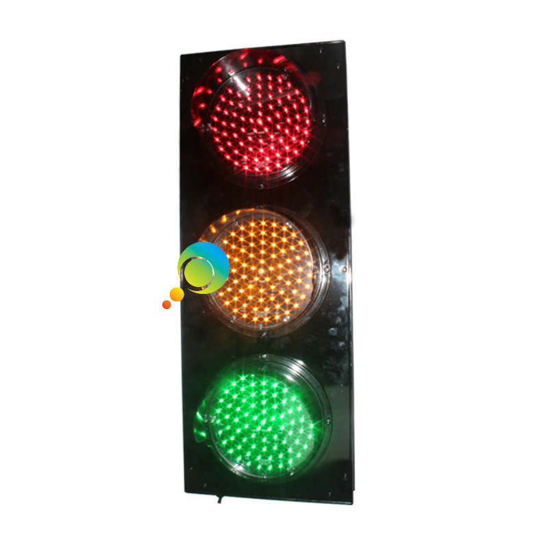 New design aluminum housing portable LED flashing red green yellow traffic light(China (Mainland))