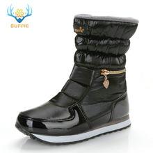 Kışlık botlar kadın sıcak ayakkabı kar botu % 30% doğal yün ayakkabı beyaz renk BUFFIE 2019 büyük boy fermuar orta buzağı ücretsiz kargo(China)