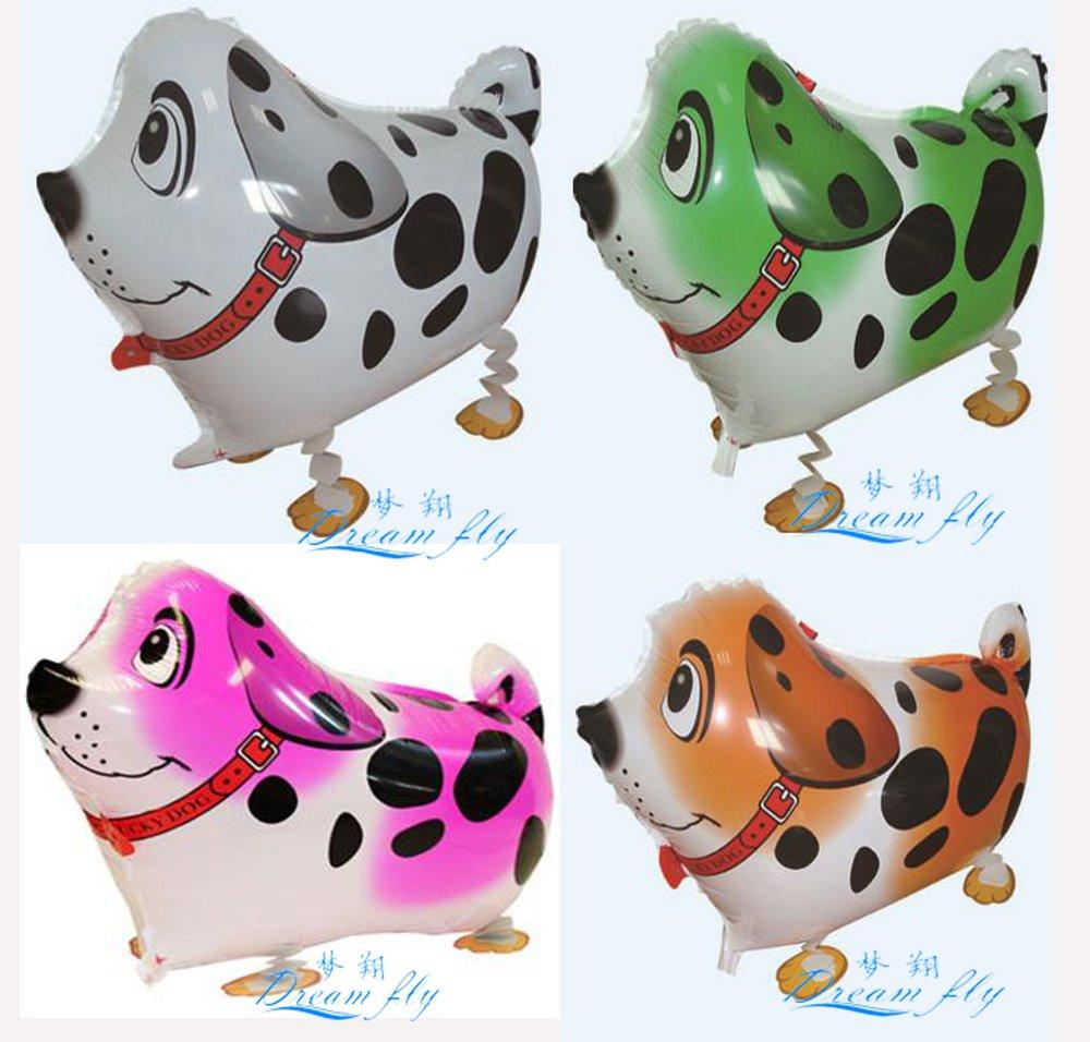 20pcs Free shipping hot sell spotty dog pet waling balloon animals pet balloon(China (Mainland))