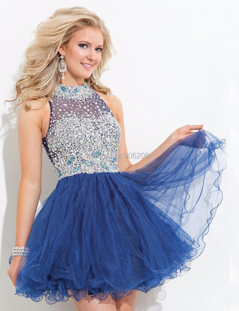Compare Prices on Short Prom Dresses Blue Puffy- Online Shopping ...