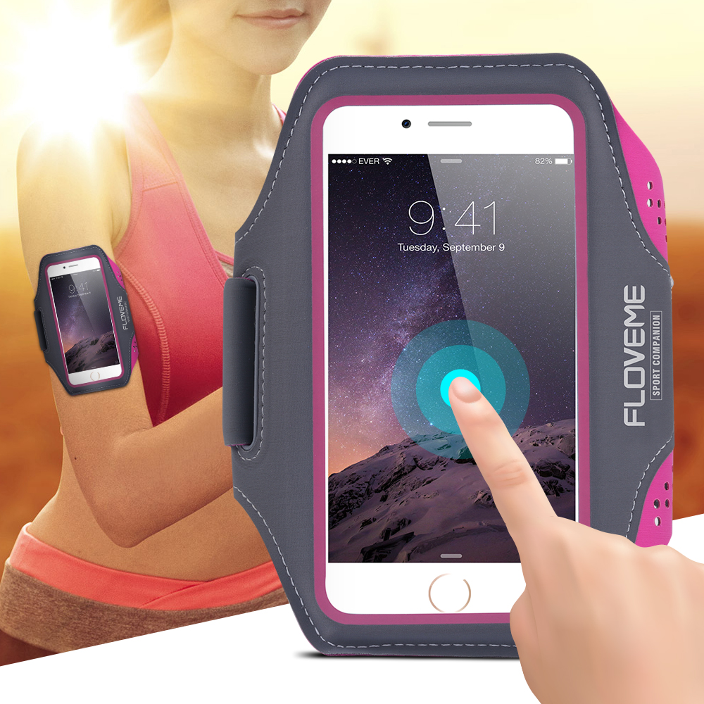 Floveme 5.5'' Universal Waterproof Running Sport Armband Case For iPhone 6 6S 5S 5 SE 6/6S Plus For Galaxy S7/S7 Edge/S6/S6 Edge(China (Mainland))