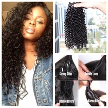 Top quality 6A grade virgin Indian remy hair non processed afro kinky curly clip in hair extensions soft human hair full head