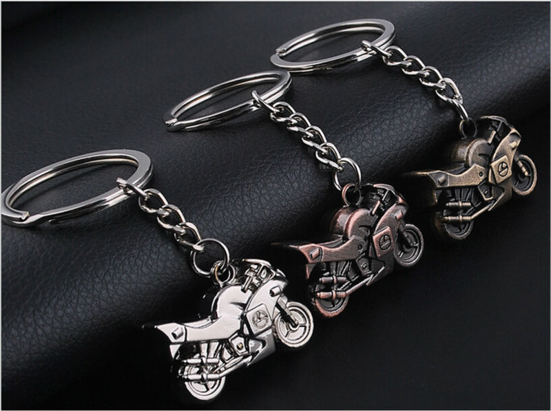 Fashion Metal buckle Lobster clasp Simulation motorcycle Key Chain Ring pendent decoration Birthday gift YSK284(China (Mainland))