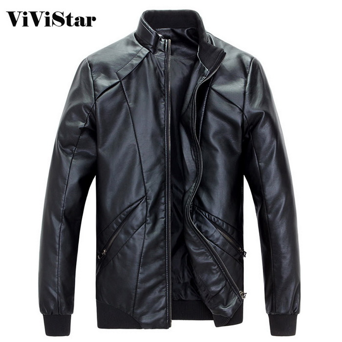 Men Leather Coats 2015 New Arrival Spring Autumn Fashion PU Leather Slim Fit Motorcycle costume F0959