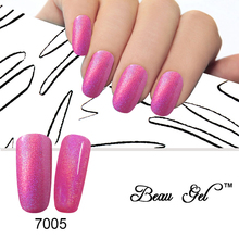 Buy Beau Gel Bling Neon Color Rainbow Gel Varnish Nail Polish Manicure UV Lamp Gel Lack Soak Polish Gel Lacquer 10ML/PCS for $1.49 in AliExpress store