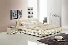 genuine leather bed price