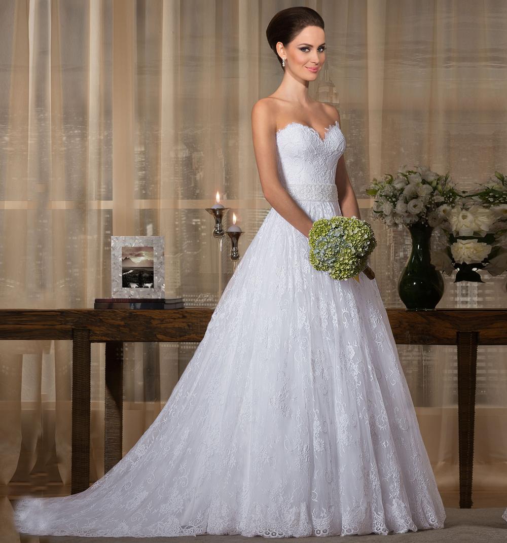 Vestido De Noiva Casamento Lace Ball Gown Wedding ...
